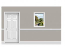 Self-Adhesive Window Stick-Up - Warwickshire Canal (75cm x 100cm)