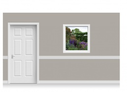 Self-Adhesive Window Stick-Up - Flower Garden (94cm x 100cm)