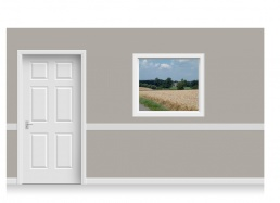 Self-Adhesive Window Stick-Up - Norfolk Field (112cm x 100cm)