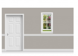 Self-Adhesive Window Stick-Up - Sussex Garden (67cm x 120cm)