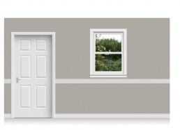 Self-Adhesive Window Stick-Up -Flower Garden (90cm x 120cm)