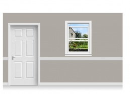 Self-Adhesive Window Stick-Up - Derbyshire Garden (90cm x 120cm)