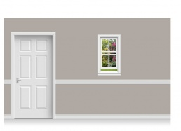 Self-Adhesive Window Stick-Up - Sussex Garden (56cm x 100cm)