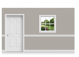 Self-Adhesive Window Stick-Up - Cheshire Garden (94cm x 100cm)