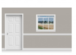 Self-Adhesive Window Stick-Up - Lincolnshire Field (112cm x 100cm)