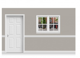 Self-Adhesive Window Stick-Up - High Street (131cm x 100cm)