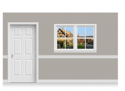 Self-Adhesive Window Stick-Up - Cotswold Village (150cm x 100cm)
