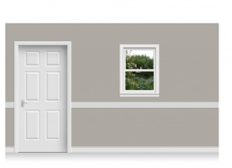 Self-Adhesive Window Stick-Up -Flower Garden (75cm x 100cm)
