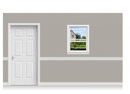 Self-Adhesive Window Stick-Up - Derbyshire Garden (75cm x 100cm)