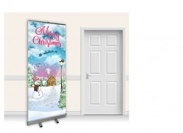 Pop-Up Roller Banner - Snowy Christmas Scene